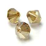 Preciosa Crystal Bead - Bicone 03MM GOLD FLARE