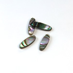 Shell Flat Back Flat Top Straight Side Stone - Oval 15x5MM ABALONE