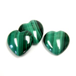 Gemstone Cabochon - Heart 18MM MALACHITE
