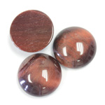 Gemstone Cabochon - Round 18MM TIGEREYE RED