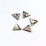 Shell Flat Back Flat Top Straight Side Stone - Triangle 10x10MM ABALONE