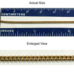 Brass Chain 1.6MM FILED CURB