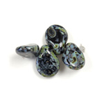 Preciosa Czech Pressed Glass Bead - Pip 5x7MM BLACK TRAVERTINE