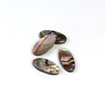 Shell Flat Back Flat Top Straight Side Stone - Oval 14x7MM ABALONE