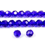 Chinese Cut Crystal Bead 32 Facet - Round 06MM SAPPHIRE