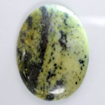 Gemstone Cabochon - Oval 40x30MM YELLOW TURQUOISE