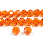 Chinese Cut Crystal Bead 32 Facet - Round 06MM HYACINTH