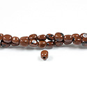 Gemstone Bead - Smooth Nugget 2.5MM Diameter Hole 06x8MM RED OBSIDIAN