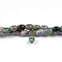 Gemstone Bead - Smooth Rice 2.5MM Diameter Hole 06x8MM FANCY JASPER