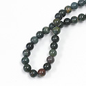 Gemstone Bead - Smooth Round 06MM BLOODSTONE
