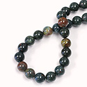 Gemstone Bead - Smooth Round 08MM BLOODSTONE