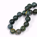 Gemstone Bead - Smooth Round 10MM BLOODSTONE