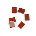 Gemstone Flat Back Single Bevel Buff Top Stone - Cushion 08x6MM RED JASPER