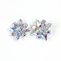 Preciosa Rhinestone Brass Button - Star 20MM CRYSTAL AB-RHODIUM