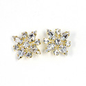 Preciosa Rhinestone Brass Button - Star 20MM CRYSTAL-GOLD
