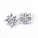 Preciosa Rhinestone Brass Button - Star 20MM CRYSTAL-RHODIUM