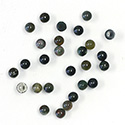 Gemstone Cabochon - Round 03MM BLOODSTONE