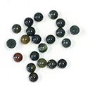 Gemstone Cabochon - Round 05MM BLOODSTONE
