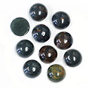 Gemstone Cabochon - Round 09MM BLOODSTONE