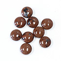 Gemstone Cabochon - Round 09MM RED OBSIDIAN