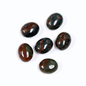 Gemstone Cabochon - Oval 10x8MM BLOODSTONE