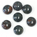 Gemstone Cabochon - Round 11MM BLOODSTONE