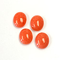 Gemstone Cabochon - Oval 12x10MM DOLOMITE DYED CORAL