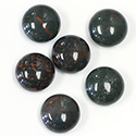 Gemstone Cabochon - Round 13MM BLOODSTONE