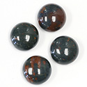 Gemstone Cabochon - Round 15MM BLOODSTONE