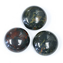 Gemstone Cabochon - Round 18MM BLOODSTONE