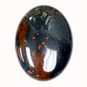 Gemstone Cabochon - Oval 40x30MM BLOODSTONE