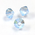 Preciosa Crystal Bead - Bicone 04MM 2X COATED AQUAMARINE AB