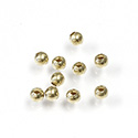Brass Beads - Smooth Round 03MM Raw Unplated Finish