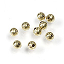Brass Beads - Smooth Round 04MM Raw Unplated Finish