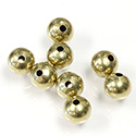 Brass Beads - Smooth Round 06MM Raw Unplated Finish