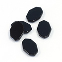 Gemstone Flat Top Straight Side Cabochon - Irregular Octagon 13x10MM BLACK ONYX