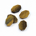 Gemstone Flat Top Straight Side Cabochon - Irregular Octagon 13x10MM TIGEREYE