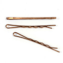 Metal Bobby Pin Flat 54MM Copper Coated Steel