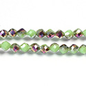 Chinese Cut Crystal Bead - Fancy 06MM AVOCADO RAINBOW