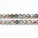 Chinese Cut Crystal Bead - Fancy 06MM FROST CENTER CRYSTAL RAINBOW