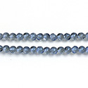 Glass Bead - Round Coated with Cut Window - 04MM MATTE HELIO BLUE