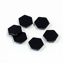 Gemstone Flat Back Flat Top Back Bevel Stone - Hexagon 08.5MM BLACK ONYX