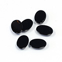 Gemstone Flat Back Flat Top Back Bevel Cabochon - Oval 10x7MM BLACK ONYX