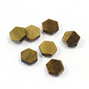Gemstone Flat Back Flat Top Straight Side Stone - Hexagon 07MM TIGEREYE