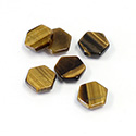 Gemstone Flat Back Flat Top Straight Side Stone - Hexagon 08MM TIGEREYE