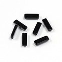 Gemstone Flat Back Flat Top Straight Side Stone - Cushion 09.5x3MM.2MM BLACK ONYX