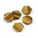 Gemstone Flat Back Flat Top Straight Side Stone - Hexagon 10MM TIGEREYE
