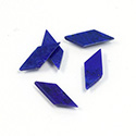 Gemstone Flat Back Flat Top Straight Side Stone - Oblong 09x6x4MM LAPIS LAZULI