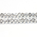 Chinese Cut Crystal Bead 32 Facet - Round 04MM CRYSTAL GREY