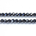 Chinese Cut Crystal Bead 32 Facet - Round 04MM JET